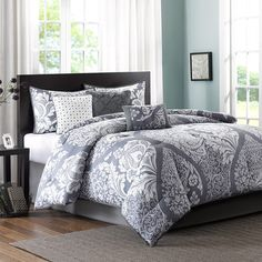 Alcott Hill Lakefront 7 Piece Comforter Set Size: California King, Color: Gray
