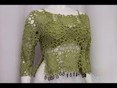 Blusa Crochet fácil con Sostén tejido - YouTube