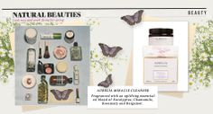 Gorgeous butterflies surround the natural beauties featured alongside our Miracle Cleanser in the ES Magazine x