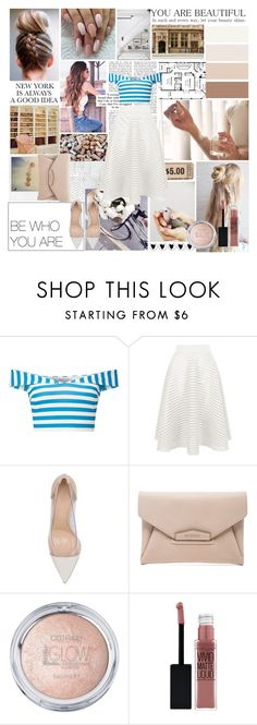 """""""You're beautiful."""" by citlalisanchezd ❤ liked on Polyvore featuring Miss Selfridge, Polaroid, New Look, Gianvito Rossi, Givenchy and Maybelline"""