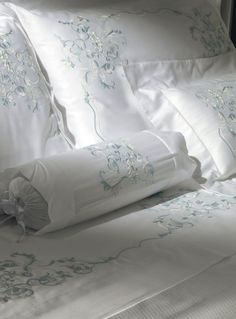 Cottimaryanne-Prestige Bed And Beyond, Linens And More, Embroidered Pillowcases, Boho Home, Fine Linens, Bed Covers, Bed Spreads, Luxury Bedding, Bedding Sets