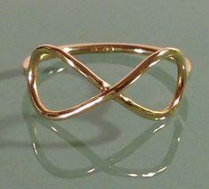 14K Infinity ring, Infinity ring, Infinity, Infinity jewelry, Knuckle ring, dainty jewelry, Gold infinity by EllynBlueJewelry on Etsy https://www.etsy.com/listing/181216976/14k-infinity-ring-infinity-ring-infinity