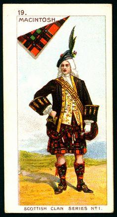 Mitchell's Cigarettes (Glasgow) - Scottish Clan Series - 1903. No19 MacIntosh | The House of Beccaria~