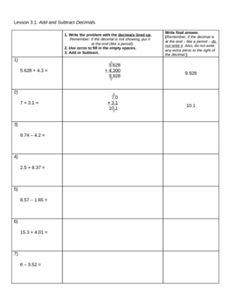 math worksheet : 1000 images about add subtract whole numbers and decimals on  : Adding And Subtracting Whole Numbers And Decimals Worksheets