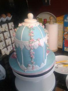 Back of bridal shower cake