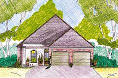 40 Foot Wide House Plans Inspirational Home Plan Under 40 Feet Wide Jh House Plans One Story, Small House Plans, Architectural Design House Plans, Architecture Design, House Plan With Loft, Cottage Floor Plans, Vintage House Plans, Mid Century House, Spanish Style