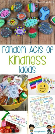 200 Ideas for Random Acts of Kindness – Kindness Ideas ideas for kids Ideas for Random Acts of Kindness - Kindness Ideas - Natural Beach Living Kindness For Kids, Teaching Kindness, Kindness Activities, Activities For Kids, Random Acts Of Kindness Ideas For School, Camping Activities, Service Projects For Kids, Service Ideas, Kindness Projects