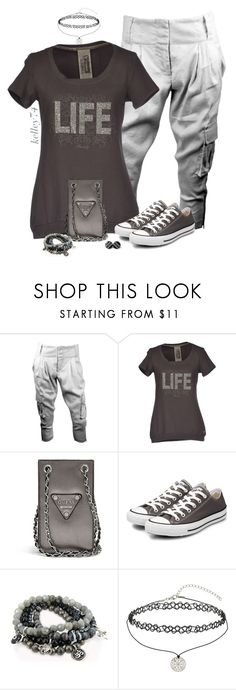 """Grey Day"" by kelley74 ❤ liked on Polyvore featuring Alice + Olivia, Freddy, GUESS, Converse, Lacey Ryan and Miss Selfridge"