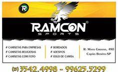 RAMCON SPORTS Rua. Mato Grosso, 490 B. Bela Vista - Capão Bonito - SP TEL: (15) 3542-4998 / 99625-5299