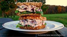 The Kitchenista Diaries: Cranberry Walnut Chicken Salad Sandwich