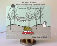 The papercrafting adventures of Alison Solven, Canadian Stampin' Up! Star Cards, 3d Cards, Pop Up Cards, Stampin Up Cards, Christmas Mom, Christmas Cards, White Christmas, Winter Cards, Holiday Cards