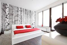 #design #onedesign #onedesignpl #bedroom #red #window