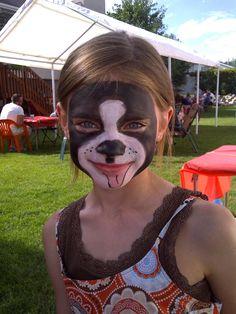 Doggie Face Paint #facepaint