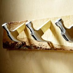 DIY Hardware - 10 different unique things to use as hooks. I love the hammers!