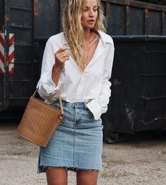 Denim Skirts / Bucket Bags