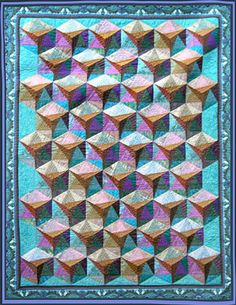 """Setting Sail quilt by Paula Golden. A study in value using the """"Origami"""" block designed by Jinny Beyer for her 1997 Hilton Head Seminar."""