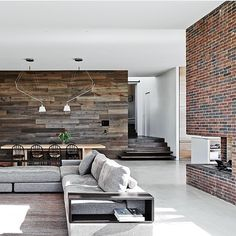 Polished concrete recycled aged timber red brick great design and workmanship by milliondollar_listing