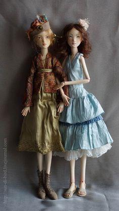 Art Dolls (via Iris Lopez, artist: ?, appear to be porcelain bjds, lovely.dd)