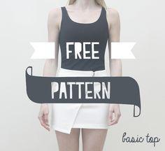 BASIC TOP - FREE PATTERN - Me & Sew