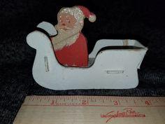 Vintage Santa & Sleigh by VintageBarnYard on Etsy