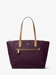MICHAEL KORS Kelsey Large Nylon Tote. #michaelkors #bags #hand bags #polyester #nylon #tote #lining #