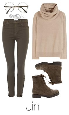 """""""Cozy with Jin """" by ari2sk on Polyvore featuring Loro Piana and Hudson Jeans"""