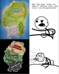Yeah...all those games had huge maps, but GTA V? Unbelievable.