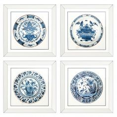 Eichholtz Modern Classic Set of 4 Imperial China Framed Wall Art Prints