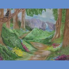 fantasy fairy forest back drop