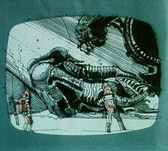 Awesome ALIEN Storyboard Art from Ridley Scott - News - GeekTyrant