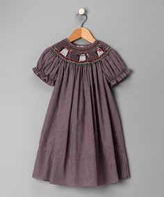 Aubergine Penguins Bishop Dress - Toddler