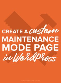 I recently found myself in several situations where I needed a maintenance or coming soon page (once for my site and once for a client). I could have just used one of the many WordPress plugins, but… Website Security, Online Tutorials, Seo Tools, Wordpress Plugins, Blog Tips, How To Start A Blog, Tricks, About Me Blog, Blogging