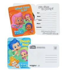 Bubble Guppies Invitations and Thank You Notes 8 Ct Amscan,http://www.amazon.com/dp/B00DLLWHN8/ref=cm_sw_r_pi_dp_I9Ictb08PG62WBQ4