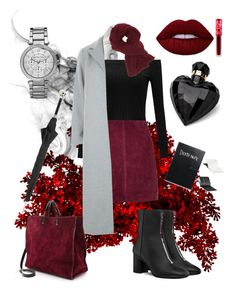 """""""#6284"""" by renatamarquess on Polyvore featuring River Island, New Look, Clare V., Charlotte Russe, Michael Kors, Lime Crime, Lipsy and Pasotti Ombrelli"""