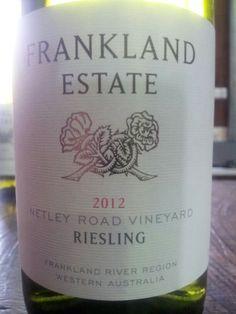 #FranklandEstate Netley Road #Riesling 2012  (#RNAWA13)