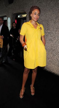 """When she was like, """"I know, pulling off yellow is so hard. Almost as hard as writing three back-to-back bestsellers in radically different narrative voices."""" 