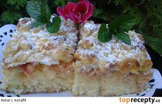 Šlehačkový koláč s jablky