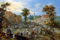 ヤン・ブリューゲル (父) (Jan Brueghel the Elder)「The Cattle Market」