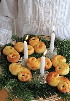 """13th December is Lucia Day and in sweden we celebrate by baking """"Lussekatter"""" saffron buns"""
