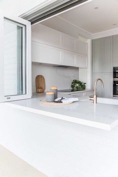 Home Decor 2018 Riverview- bifold window in the kitchen.Home Decor 2018 Riverview- bifold window in the kitchen Layout Design, Küchen Design, House Design, Interior Design, Interior Paint, Home Decor Kitchen, Kitchen Interior, Home Kitchens, Outdoor Kitchen Design