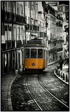 Our Vacation to Lisbon, Portugal. A most delightful and beautiful city. Not too many real cities are just themselves. Mostly you could be anywhere but Lisbon is unique. Oh The Places You'll Go, Places To Travel, Places To Visit, Spain And Portugal, Portugal Travel, Travel Around The World, Around The Worlds, Lisbon Tram, S Bahn