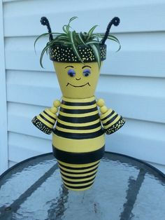 Terra Cotta Queen bee by Sandy
