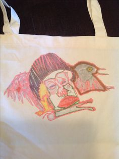 Feathered Friend tote on ETSy!
