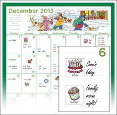 Family Magnetic Calendar