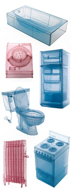 "Do Ho Suh – Some of the intricately constructed ""appliances"" that reside within his installations / buildings Do Ho Suh, Artistic Installation, Korean Art, Scenic Design, City Art, Art Object, Art Plastique, Textile Art, Art Lessons"