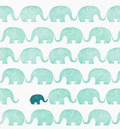 animal, background, blue, elephant, green, pattern, wallpaper