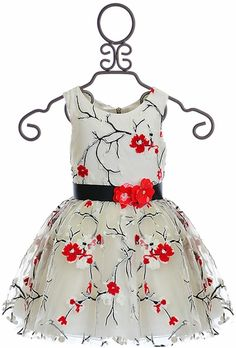 Zoe LTD Formal Dress for Tweens with Flowers