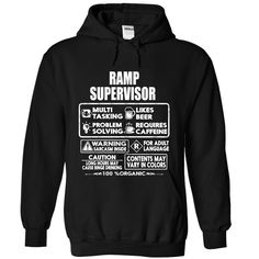 Ramp Supervisor T-Shirts, Hoodies. BUY IT NOW ==► https://www.sunfrog.com/LifeStyle/Ramp-Supervisor-2440-Black-Hoodie.html?id=41382