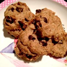 """A simple recipe for a  GF Chocolate Chip Cookie (no added sugar, no butter/oil, no eggs) -- simply made with heart healthy ingreds). And they are """"twin-star approved"""" - that means my girls love 'em!!"""
