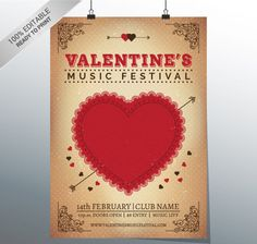 Valentine's-Music-Festival-poster-Free-Vector